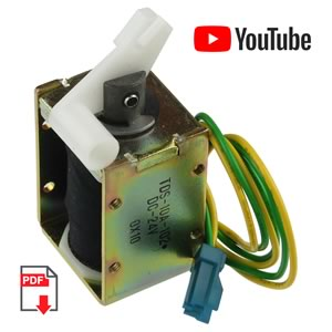 24VDC Open Frame Solenoid with Plunger TDS-10A-102