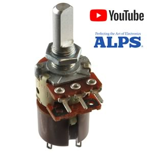10K Linear Taper Potentiometer with Push/Pull Switch, DPST