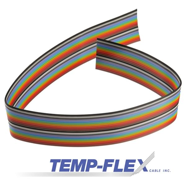 Temp-Flex 20 Conductor 20x26AWG Flat Ribbon Cable (Priced By The Foot)