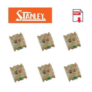 (Pkg 25) Bi-Color Green/Red SMD LED, Stanley BRPG1204W