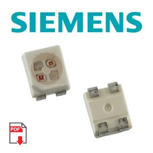 (Pkg 20) Bi-Color Orange/Pure Green SMD LED, PLCC-4, Siemens LOP T670