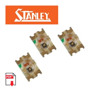 (Pkg 20) Bi-Color Red/Yellow SMD LED, Stanley BRPY1205W-RR