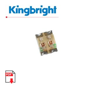 (Pkg 50) Bi-Color Green/Yellow SMD LED, Kingbright APTB1612YSGC