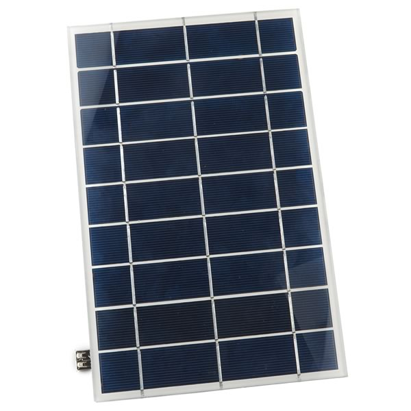 5.5V 1.3Amp 6 to 7 Watt Glass Solar Panel