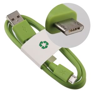Green - Standard USB to Micro-B Male Connector Charging Cable