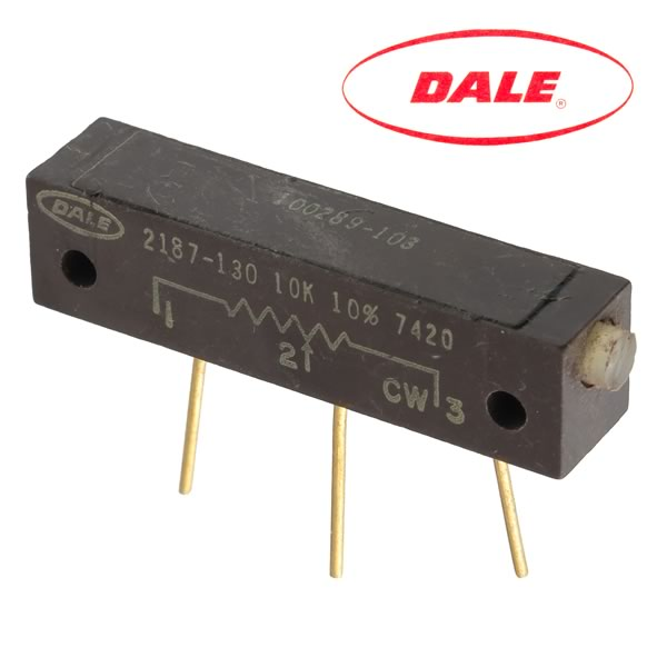 (Pkg 2) Dale 2187 - 10K Linear Multi-turn Trimmer Resistor
