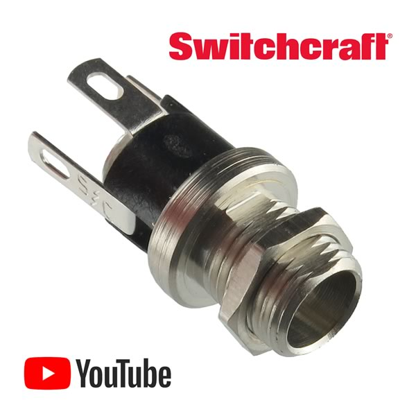 Switchcraft Panel Mount L712A Power Jack 5.50mm O.D. / 2.50mm I.D.