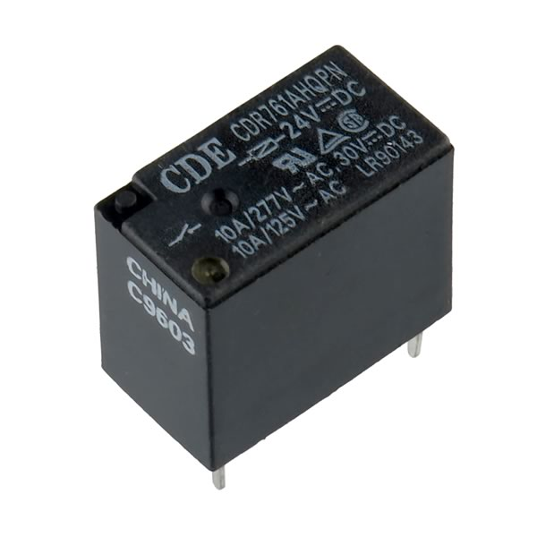 CDE 24VDC 10A SPST Relay CDR761AHQPN