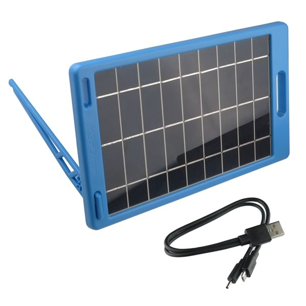 Our Most Powerful USB Solar Panel 5.5V, 1.2A, Stand Included and Standard USB to Micro B Cable