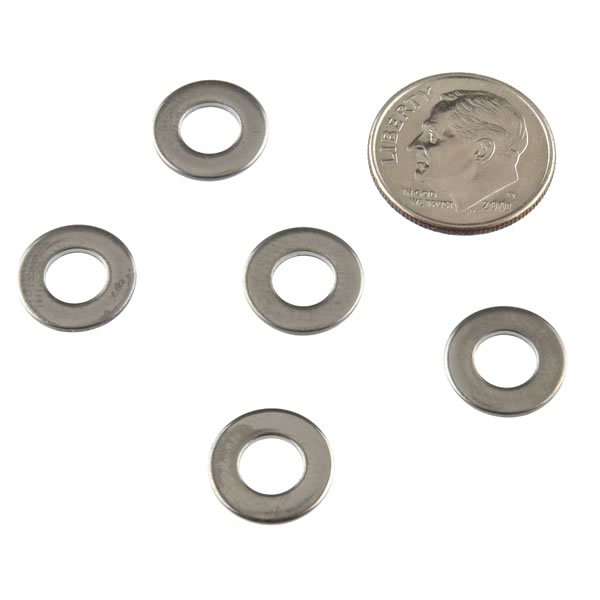 (Pkg 25) #10 Stainless Steel Flat Washer, 0.437