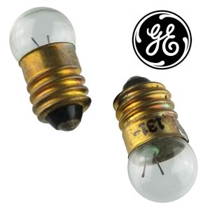 (Pkg 4) GE131 E10 Screw Base 1.3V Flashlight Lamp