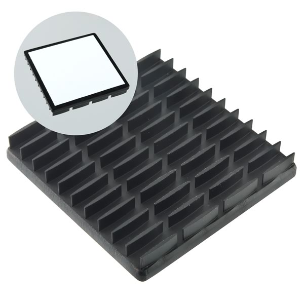 AWESOME DEAL! (Pkg 2) BGA Heatsink, Aluminum, 44.62mm Square x 6.4mm w/ Thermal Tape