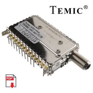TEMIC 4707-PH5 50-860MHz VHF/UHF Tuner