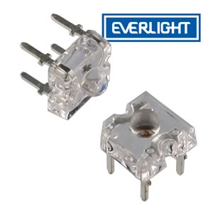 (Pkg 10) Everlight Super Flux Blinding Red LED