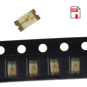 (Pkg 20) Blue SMD LED, 30mcd, 1206 Case, Lite-On LTST-C150TBKT