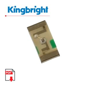 (Pkg 25) 3.2 x 1.6mm SMD Green LED, Kingbright KP-3216CGCK