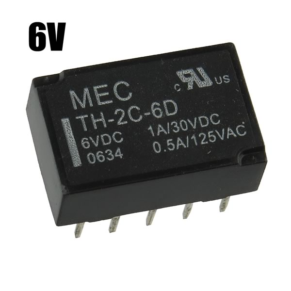 (Pkg 5) MEC TH-2C-6D 6VDC DPDT Polarized Relay