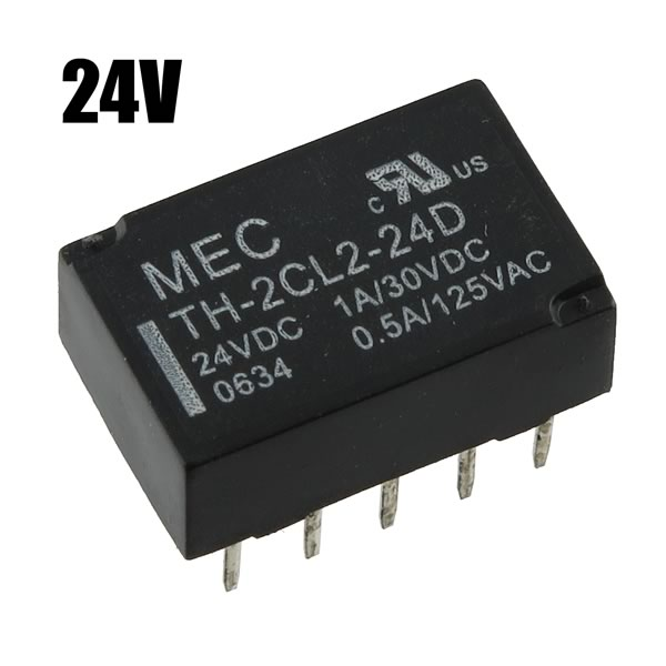 (Pkg 5) MEC TH-2CL2-24D - 24VDC DPDT Latching Relay