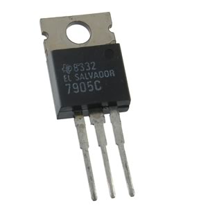 (Pkg 10) 7905C Voltage Regulator -5V 1A TO-220 by TI