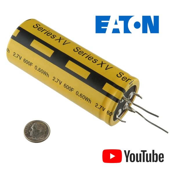 Eaton Powerful 600 Farad 2.7VDC PowerStor(R) Supercapacitor