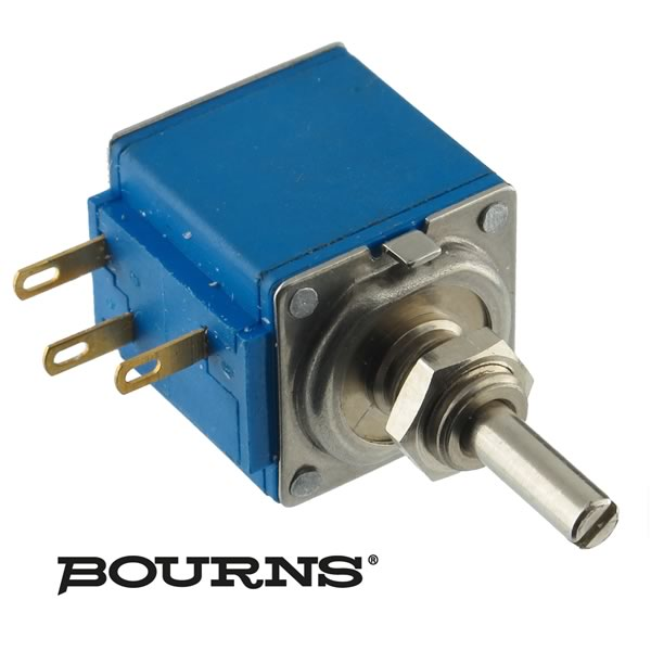 Bourns 10 Turn Panel Mount 5K Linear Taper Wirewound Potentiometer