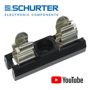 Schurter 0031.8001 OG Series Fuse Holder 5x20mm, 600V 10A