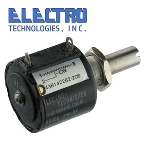 Electro Technologies 10 Turn Wirewound Precision Panel Mount 2K Potentiometer