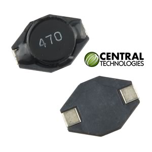 (Pkg 10) Central Technologies 47uH ±20% SMD 1.0A Power Inductor, CTDO3308-473
