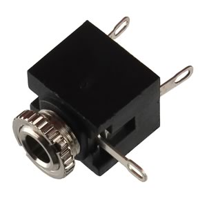 (Pkg 2) 3.5mm Panel Mount Stereo Jack with Nut