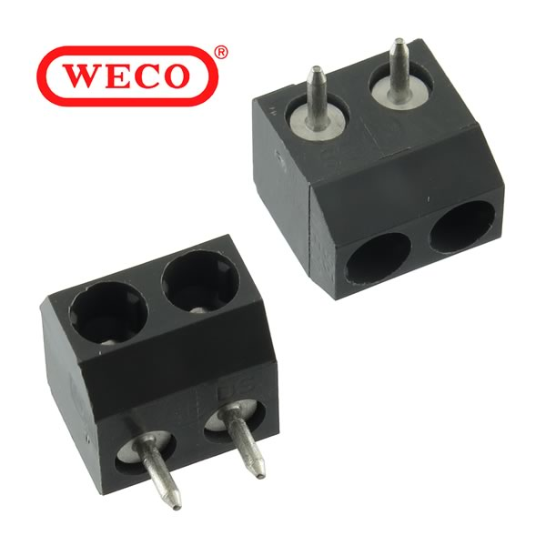 (Pkg 3) Weco 951-FB/02 2 Position Plug-In Connector for PC Boards