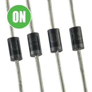 (Pkg 20) On Semiconductor 1N4002 100V 1A Rectifier