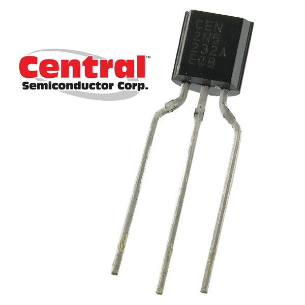(Pkg 25) Central Semiconductor 2N5232A NPN Low Noise, High Gain Amplifier