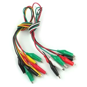 (Bag of 8) Test Leads with Insulated Clips