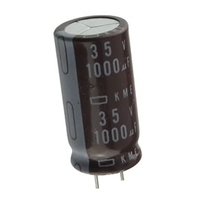 CLEARANCE! (Pkg 5) Compact 1000uF 35V Radial Electrolytic Capacitor