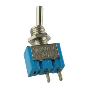 CLEARANCE! (Pkg 5) SPST Miniature Panel Mount Toggle Switch