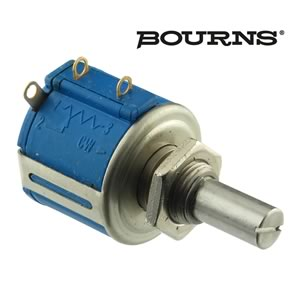 Bourns 3540S-1-501 500Ω Precision 10 Turn Wirewound Panel Mount Potentiometer