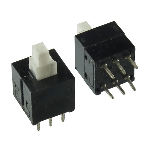(Pkg 4) DPDT Miniature Push-On Push-Off Switch