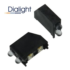 (Pkg 2)  Dialight CBI Prism SMD Mount Green/Blue Indicator 592-2326-801