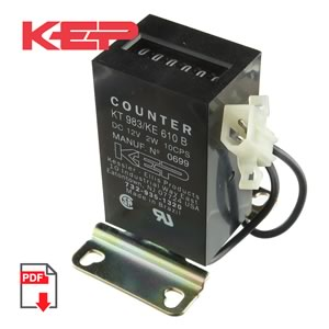 12VDC KT 983/KE 610B 6 Digit Impulse Counter