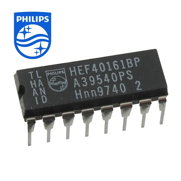 (Pkg 5) Philips HEF40161B 4-Bit Binary Counter