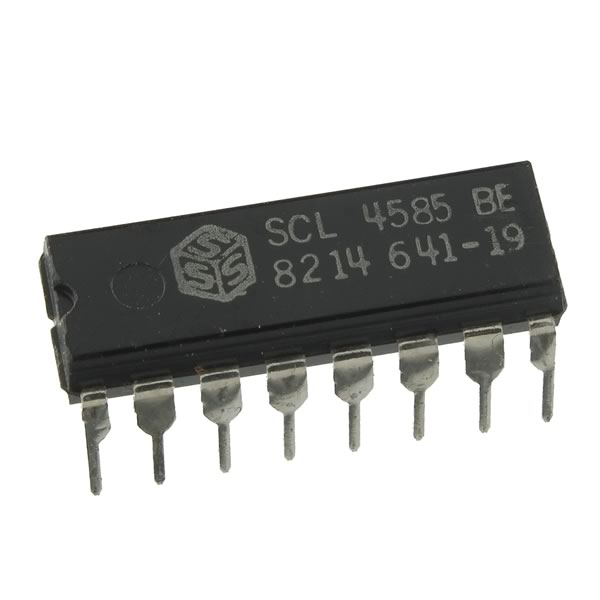 (Pkg 5) SCL4585BE (CD4585) 4-Bit Magnitude Comparator