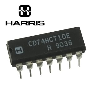(Pkg 5) Harris CD74HCT10E Triple 3-Input NAND Gate