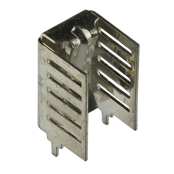(Pkg 5) Tin Plated TO-220 Solid Copper Heatsink with Clamp Mount
