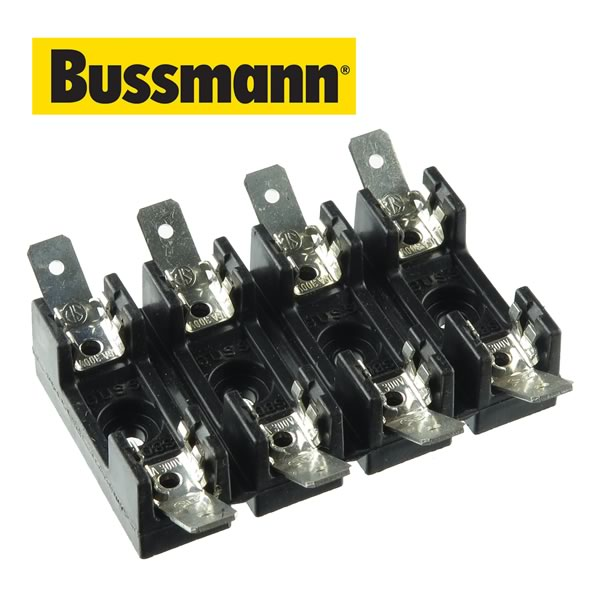 Cooper Bussmann S8000 4 Position Fuse Holder For 3AG Fuses