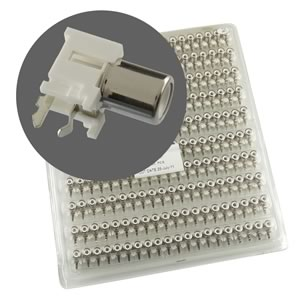 (Pkg 200) Factory Tray of High Quality WHITE RCA Jack