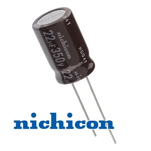 (Pkg 100) Nichicon Compact 22uF 350V Radial Capacitor
