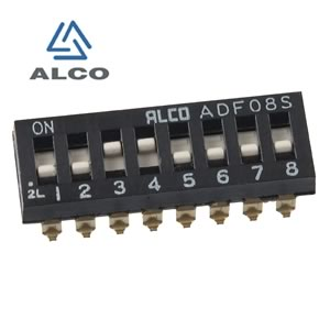 (Pkg 10) Alco ADF08S - 8 Position SMD DIP Switch