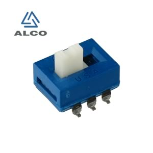 (Pkg 10) Alco ASE-22-L04 SMD Miniature DPDT Slide Switch