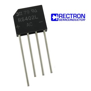 (Pkg 4) Rectron RS402L 100V 4Amp Bridge Rectifier
