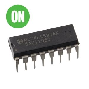 (Pkg 3) ON Semiconductor 74HC595 8 Bit Shift Register DIP IC